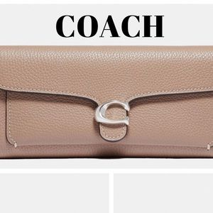 COACH TABBY TRIFOLD LONG LEATHER WALLET TAUPE NWOT